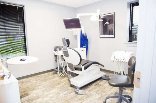 Operatory at Dental Care of Burlington used for dental cleanings and exams