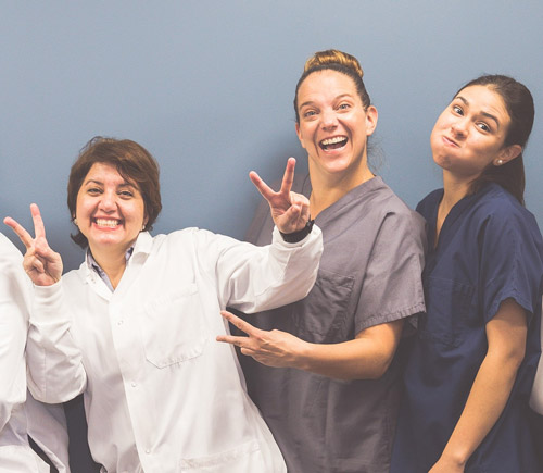 Dr. Shaibani and the team having fun and striking a pose!